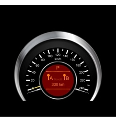 Abstract of metal speedometer vector