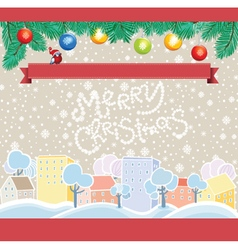Cartoon christmas template vector