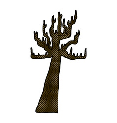 Old bare tree comic cartoon vector