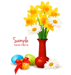 easter floral background vector image