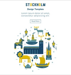 Stockholm set elements in the form of a circle vector