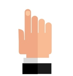 Pointer hand icon vector