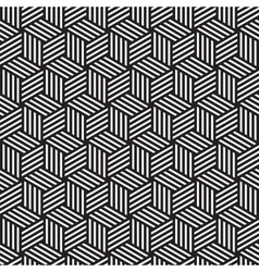 Bold cube pattern background black white vector