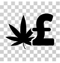 Cannabis pound business icon vector