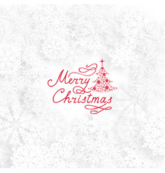 christmas holiday background with christmas tree vector image