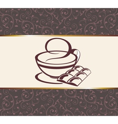 coffeetea background vector image vector image