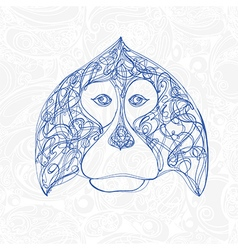 decorative head of monkey symbol new year vector image vector image