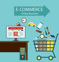 E-commerce online business vector