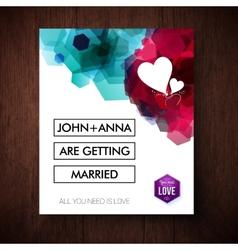 Elegant eye-catching wedding invitation design vector