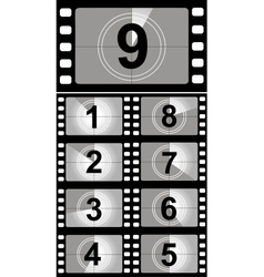 Film countdown numbers vector image