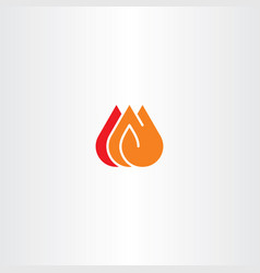 fire icon clip art vector image vector image