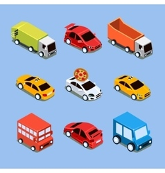 Flat 3d isometric high quality city transport vector