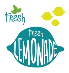 Fresh lemonade set vector