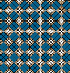 Geometric colored seamless tile pattern vector image vector image