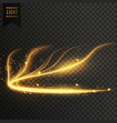 Glowing golden transparent light effect background vector