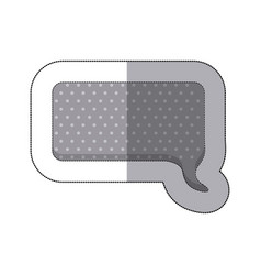 gray squard chat bubble icon vector image