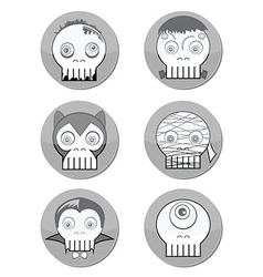 Haloween skulls vector
