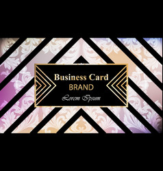 luxury brand card with rich ornament vector image