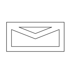 mail black color path icon vector image vector image