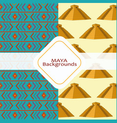 maya culture background vector image