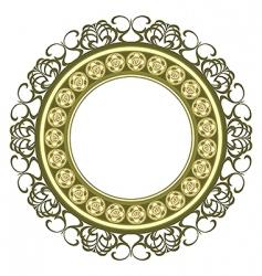 medallion frame vector image