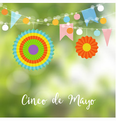 mexican cinco de mayo greeting card invitation vector image vector image