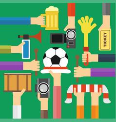Modern soccer fan flat design vector