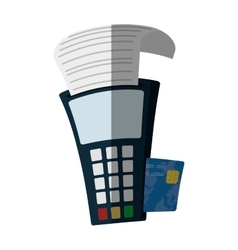 Payment credit card dataphone flat icon vector