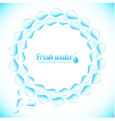 Realistic water drops speech bubble vector image