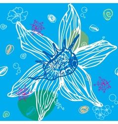 Sea Shells Seamless Pattern vector image vector image
