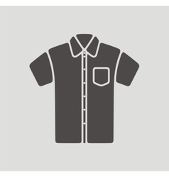 Shirt icon on background vector image vector image