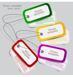 Sticker label set vector image vector image