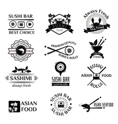 Sushi logo icons set vector image