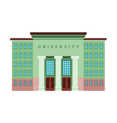 university green color building icon vector image vector image