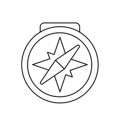 Isolated compass tool design vector