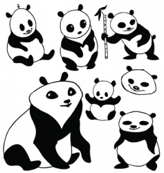 Cartoon panda vector