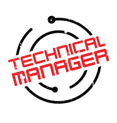 technical manager rubber stamp vector image