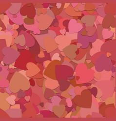 Abstract seamless random heart background pattern vector
