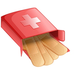 Plasters in a red box vector