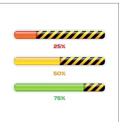 Progress web downloading bar vector
