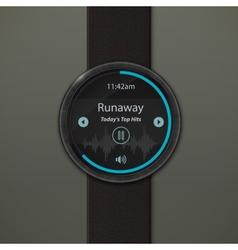 Smartwatch mockup vector image