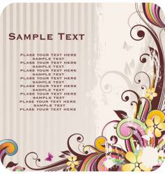 Floral background with banner vector