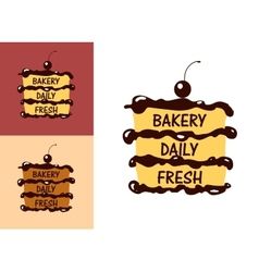 Bakery Fresh badge or label vector image
