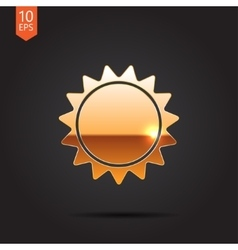 Sun icon eps10 vector