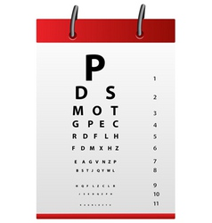 Eye testing board vector