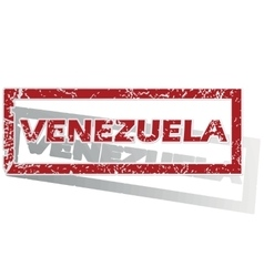 Venezuela outlined stamp vector