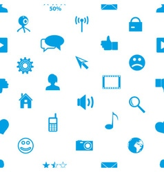 Web and social networks simple icons seamless vector