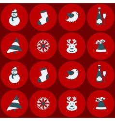 Seamless background with christmas elements vector