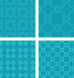 Teal seamless pattern background set vector