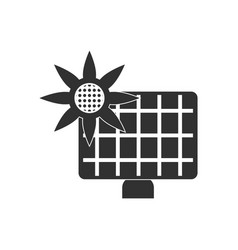 Black icon on white background solar battery vector